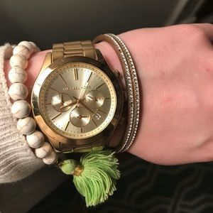 BRAND NEW MICHAEL KORS GOLD WATCH!!